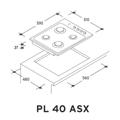 Encimeras De Cocción PL 40/1 ASX