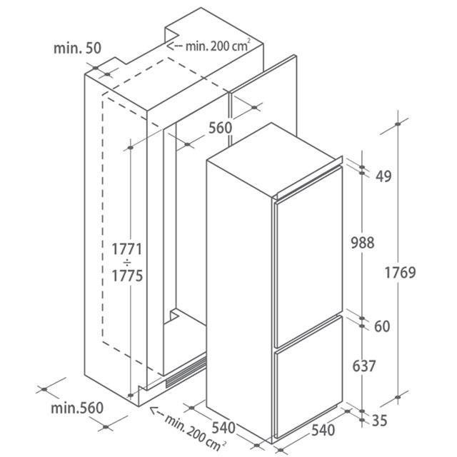 Kühlschränke HBCPP3180/1D