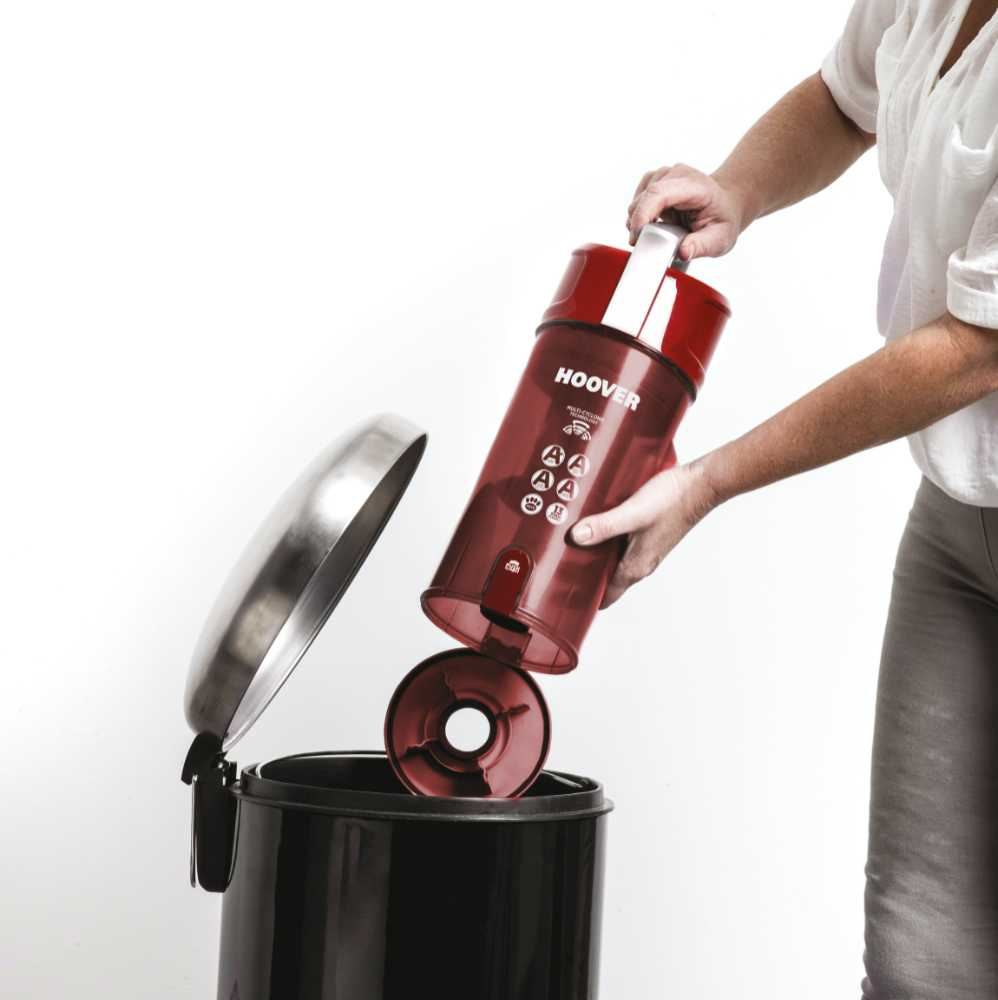VE02 Velocity Evo Reach Bagless Upright Vacuum Cleaner with 700W in Red